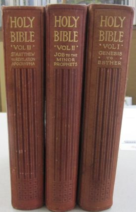 The Holy Bible Containing the Old & New Testament & The Apocrypha in 3 volumes. Bible