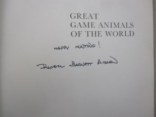 Great Game Animals of the World Signed. Russell Barnett Aitken