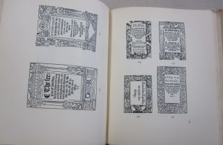 Title-page Borders used in England & Scotland 1485-1640.