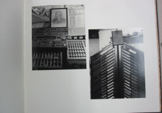 Portraits of Presses. Photographs by Ski Harrison of Fleece, Gregynog, I.M. Imprimit, Old Stile, Rampant Lions, Rocket, Tern, Whittington & CTD; with commentaries by the printers.