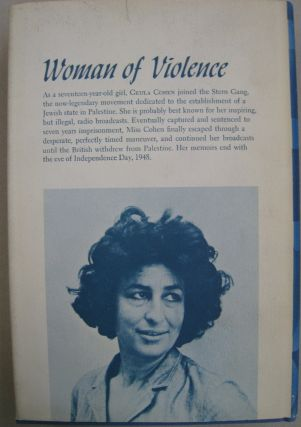Woman of Violence Memoirs of a Young Terrorist 1943-1948.