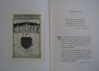 Ex-Libris A Showing of Interesting Bookplates, including choice bits of Philosophy by brilliant sages, Mottoes used with Bookplates and Selected Literary Gems in Three Parts.