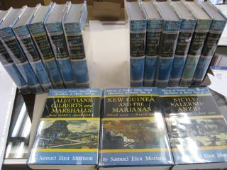 History of the United States Naval Operations in World War II 15 volume set complete.