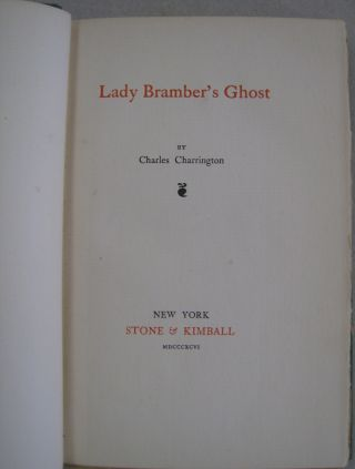 Lady Bramber's Ghost; A Modern Ghost Story