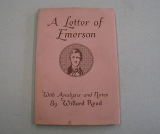 A Letter of Emerson; Being the First publication of the reply of Ralph Waldo Emerson to Solomon...