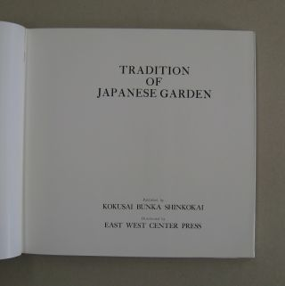 Tradition of Japanese Garden.