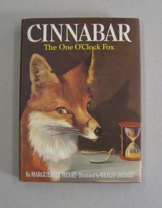 Cinnabar The One O'Clock Fox [SIGNED]. Marguerite Henry