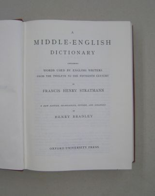 A Middle-English Dictionary; Words Used by English Writers from the Twelfth to the Fifteenth Century