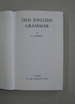 Old English Grammer.