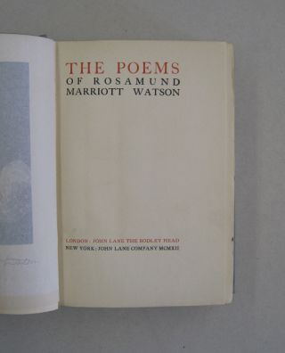 The Poems of Marriott Watson.