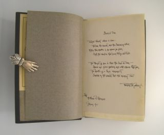 The Rose-Jar and The Voice in the Silence with signed hand written poem.