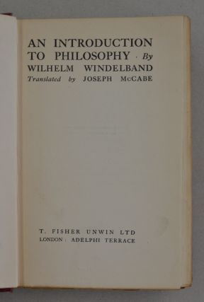 An Introduction to Philosophy.