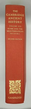 The Cambridge Ancient History Volume VIII Rome and the Mediterranean to 133 B.C.